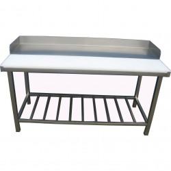 Stół z obrzeżem z trzech stron